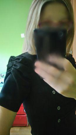 Sukienka rozm 38/M, czarna z guzikami, stan bardzo dobry Sosnowiec - image 1
