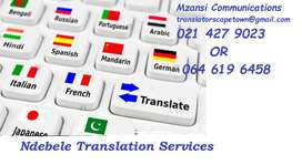 Ndebele Translation services Cape Town.