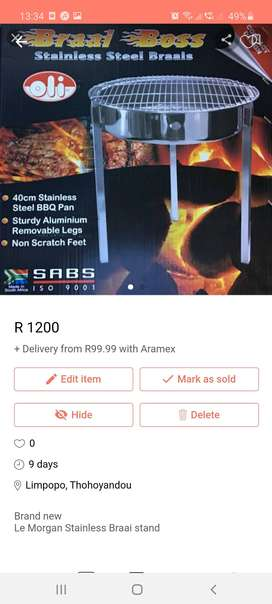 Le morgan stainless braai stand