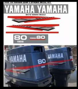 Yamaha 80 outboard motor stickers decals vinyl cut graphics kits