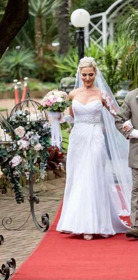 Stunning Wedding Dress, Cathedral Veil and Petticoat