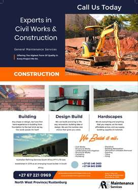 For all your professional construction and maintenance services