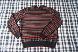 Sweter męski czarno-czerwony Gioferrari 54 M