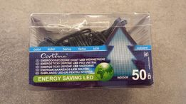 Niebieskie lampki LED, bardzo mocne światło, pobór 2 waty, 50 szt.