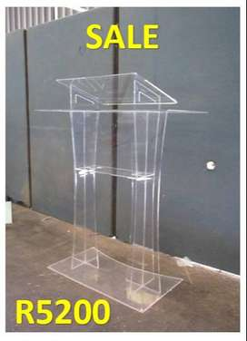 Pulpits And Podiums Clear Cross Legged Podium