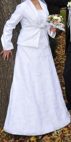 Sprzedam śliczną suknię ślubną z koronki. Przeworsk - image 6