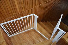 Barierka drewniana biała bramka KOMINEK SCHODY 182cm nowa
