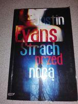 """Książka """"Strach przed nocą"""" Justin Evans horror demony egzorcyzmy"""