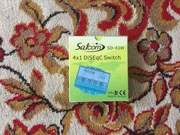 Продам Переключатель спутникового сигнала DISEqC 4x1 внешний SatCom SD