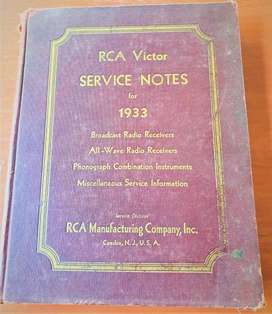 RCA Victor Service Notes 1933 4th Volume