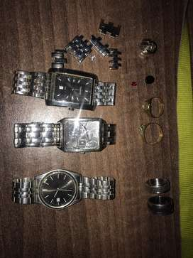 Watches, links, rings and earings