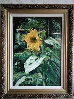 "Картина ""Соняшник"" масло в шикарной раме"