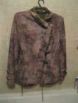 демисезонная куртка дубленка серая 48р под ремонт низ верх как новый