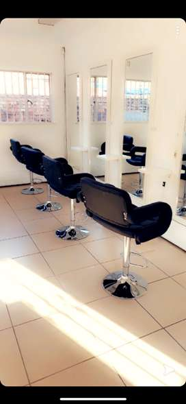 Renting chairs at a salon