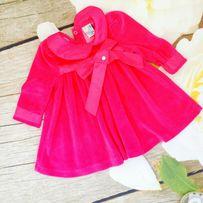 Платье на девочку велюровое