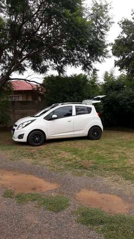 2014 Chevrolet Spark White-Grey interior 60,000km