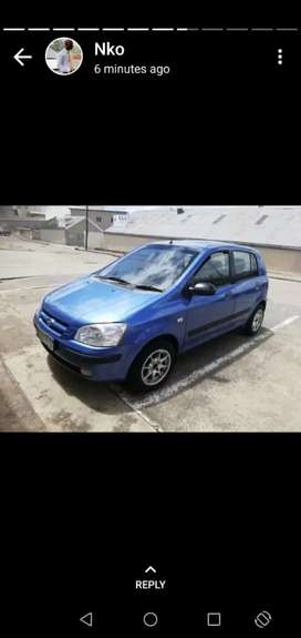 Hyundai Gerts 2003 model, 1.3 engine, car  neat and well looked after