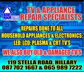 LED LCD PLASMA AND APPLIANCE REPAIRS