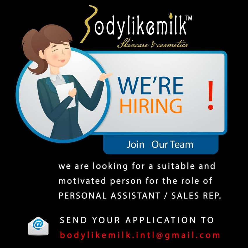 PA & Sales Representative Needed 0