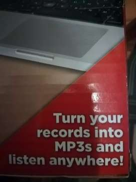 Turntable, lp into mp 3.