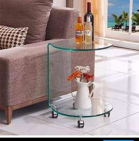 Ruby Glass Side Table