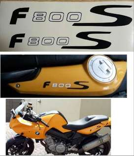 Pair of BMW F800S tail decals stickers graphics