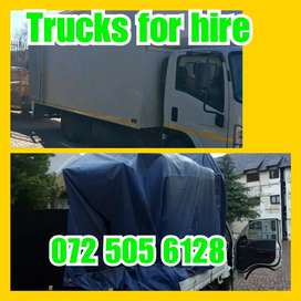 TRUCKS AND TRAILER FOR HIRE