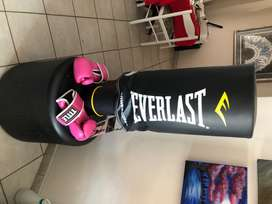 Boxing bag standing up