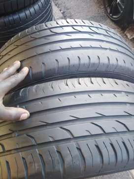 2 × 215/55/18 continental tyres for sale