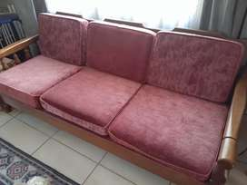 3 seater solid wood couch