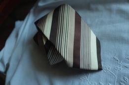 Krawat Ted Baker London KNOTTED 100% jedwab jedwabny paski elegancki