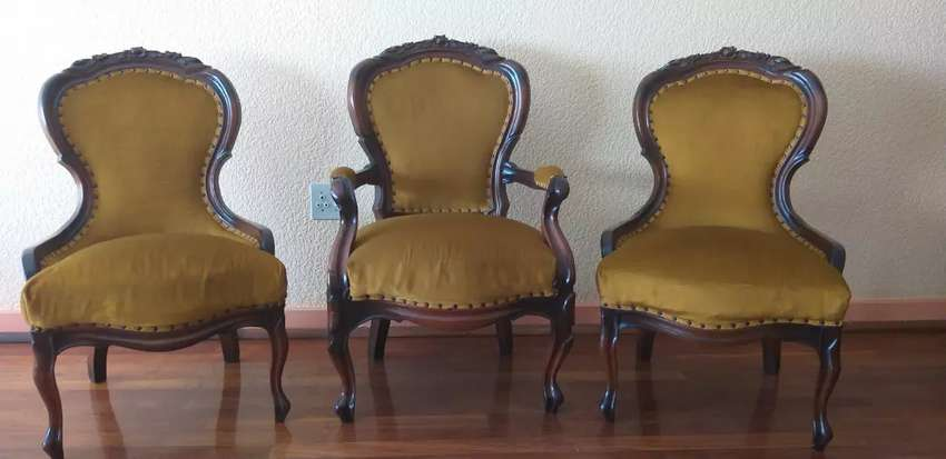 Victorian high back chairs 0