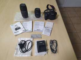 Canon EOS 1300D with accessories