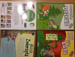 książki Wynalazki, Zwierzęta lasu, Leśne drzewa, książeczki dla dzieci