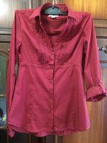 Рубашка женская цвета марсала