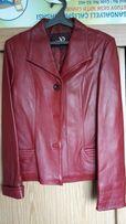 Женский кожаный пиджак куртка, размер S