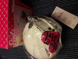 Dziewczęcy / kobiecy kask narciarski Barbie biało-różowy, ma pudełko