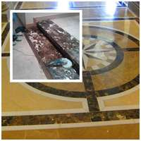 Image of marble polishing and restoration of natural stones e.g travertine etc