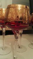 Przepiękne królewskie kryształowe kielichy do wina