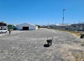 Large vacant land with marquee