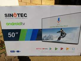 """Sinotec 50"""" android smart tv"""
