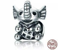 Шарм Пандора Слон серебро 925