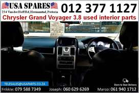 Chrysler Grand Voyager 3.8* 2008-15 used interior parts for sale
