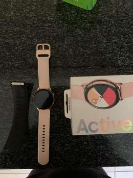 Rose gold Galaxy Watch Active