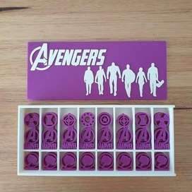 Avengers Chess Set and Box 3D Printed
