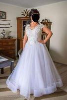 Suknia Ślubna Piękna Księżniczka Princessa rozmiar 46
