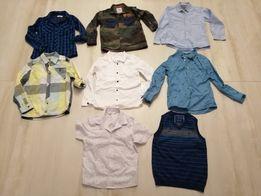 Koszule 122/128 Zara, Reserved, H&M...