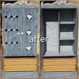 Re-designed chalk painted cupboard