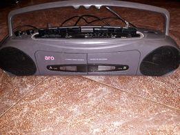 Магнитофон ARO двух касетник, 90-х годов, б,у , в рабочем состояни