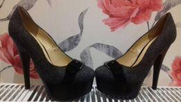 Туфли туфельки серые Allenka